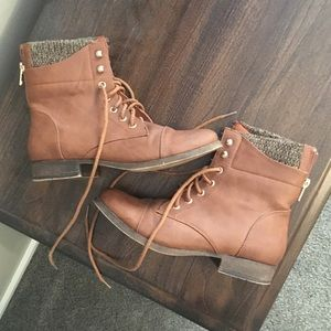 Charlotte Russe Women's Brown Combat Boots Size 7